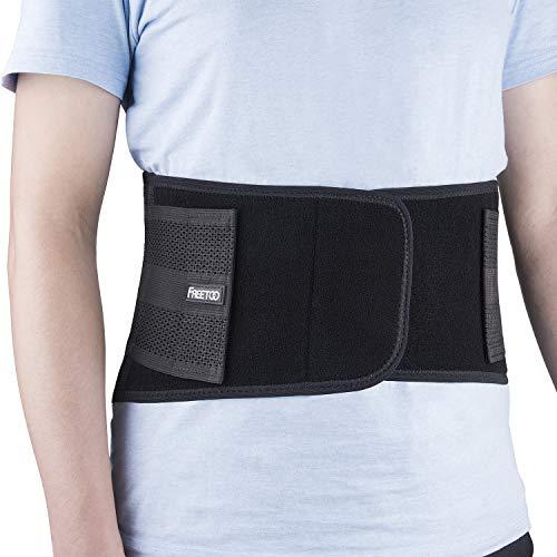 FREETOO cintura per parte inferiore della schiena, utilizzare per medicale e sport, prevenzione degli infortuni, sollievo dal dolore e tenervi sottile L/XL 33-40'