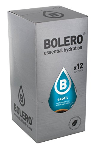 12 x Bolero Powdered Drinks Classic 9 g sachet Frutti Esotici