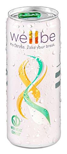 Wellbe Relax Drink - prodotto made in Italy - aumenta la concentrazione elimina lo stress - estratti naturali (6 lattine da 330 ml)