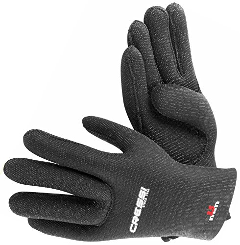 Cressi High Stretch Gloves, Guanti in Neoprene Elastico per Apnea e Immersioni Unisex – Adulto, Nero/Rosso (3.5 mm), XL
